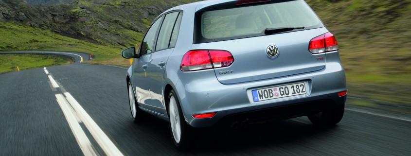 Der neue Volkswagen Golf bei der Fahrpraesentation auf Island (September 2008)